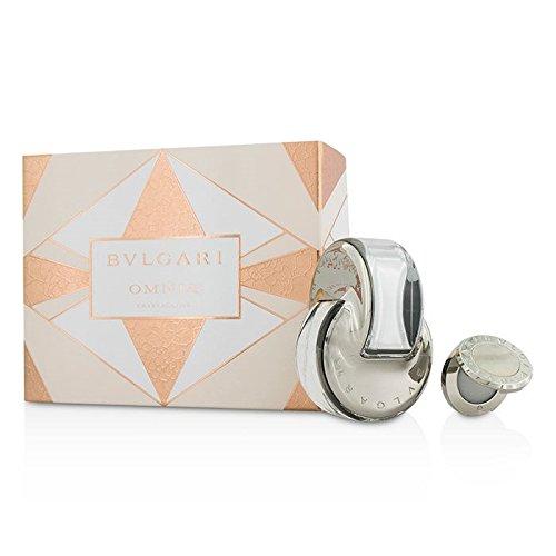 BVLGARI 2 Piece Omnia Crystalline Eau De Toilette Set with Solid Perfume, 2.2 Ounce