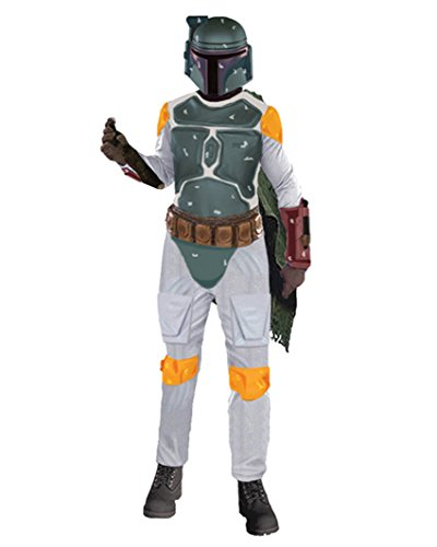 [Mens Boba Fett Costume Star Wars Theatre SciFi Movie Fantasy Costumes Sizes: One Size] (Boba Fett Costume Cheap)