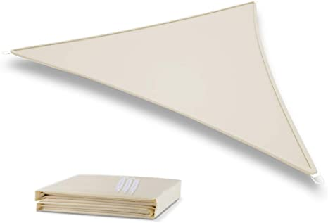 Deepee 3x3×3m Toldo Vela de Sombra Triángulo, Hecho de Poliéster de alta calidadprotección 95% UV y Transpirable Impermeable, para Jardín, Patio, ...