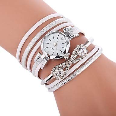 6d3a4c6ef Fashion Watches Women's Bracelet Watch Quartz Quilted PU Leather  Black/White/Blue Casual Watch