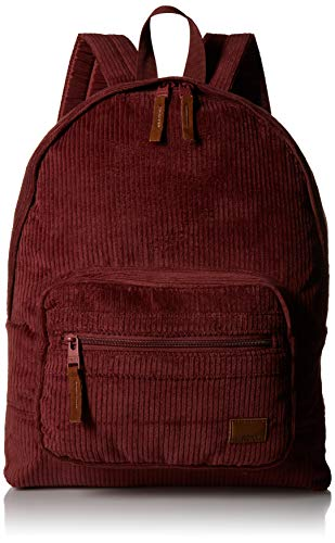 Roxy Junior's Morning Light Corduroy Backpack, Oxblood red, One Size