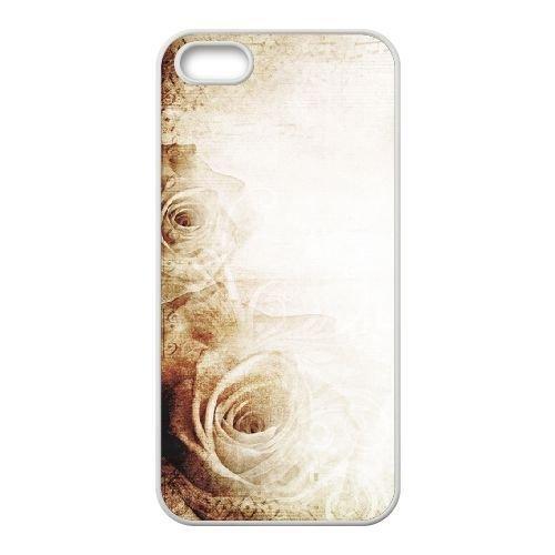 FDXGW642 iPhone 5 5s Cell Phone Case-white_Retro Flower (17)