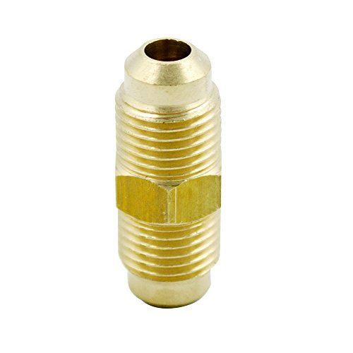 Vis Brass SAE 45 Degress Flare Tube Fitting, Union, 1/4