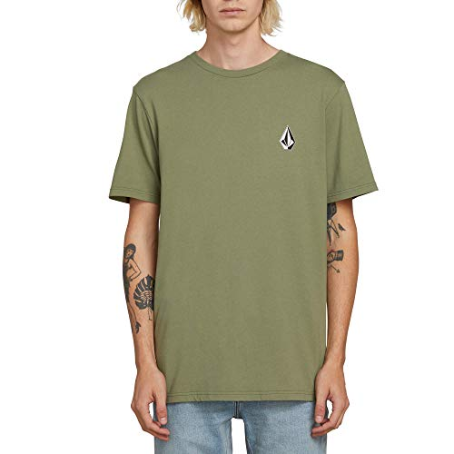 Volcom Men's Deadly Stone Modern Fit Short Sleeve Tee Dusty Green