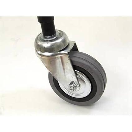 4 unidades Caraselle 7,62 cm acero resistente ruedas para rieles de la ropa