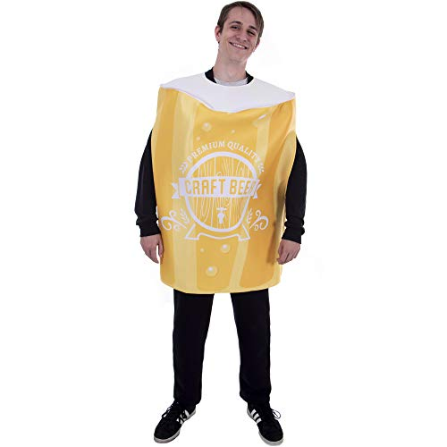 Pint of Beer Halloween Costume | Funny Food Craft Beer Drinking Glass Suit