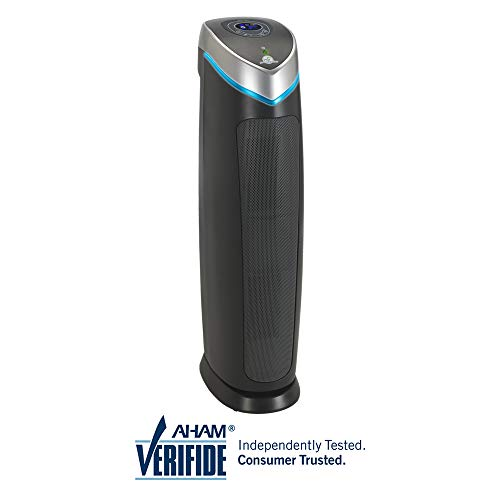 "GermGuardian AC5250PT 28"" 3-in-1 Large Room Air Purifier, Pet Pure HEPA Filter, UVC Sanitizer, Home Air Cleaner Traps Allergens for Pet Dander,Smoke, Odors, Mold, Dust, Germs,Energy Star Germ Guardian"