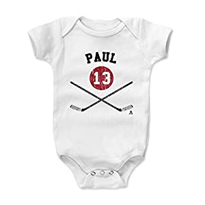 500 LEVEL's Nick Paul Infant & Baby Onesie Romper - Ottawa Hockey Fan Gear Officially Licensed by the NHL Players Association - Nick Paul Ottawa Sticks K