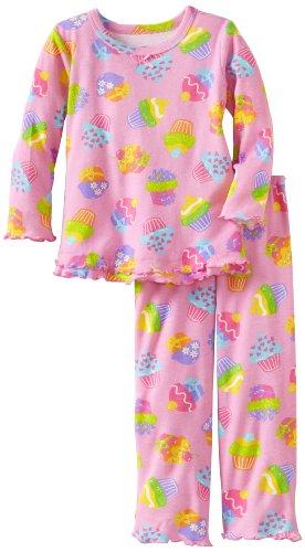 Saras Prints Girls Cupcakes - Sara's Prints Little Girls' Ruffle Top And Pant, Cute Cupcakes, 4