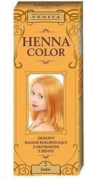 Henna Color 2 Ámbar Bálsamo Capilar Tinte Para Cabello Efecto De Color Tinte De Pelo Natural Gallina Eco