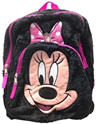 Minnie Face 12 Plush Mini Backpack with 1 Front Pocket