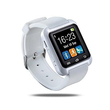 AB Emblems BAB® U80 Bluetooth Smartwatch Reloj para el iPhone 4/4S/5/5C/5S/6/6 Además, Samsung S3/S4/S5/S6/Nota 2/Nota 3/Nota 4, HTC y Sony Android ...
