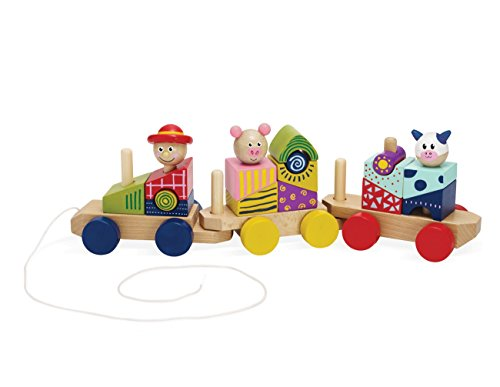 Wooden Toy Train Plans (Manhattan Toy Stack and Pull 24-Piece Wooden Blocks Train, For 12 Months and Up)