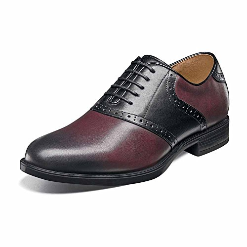Florsheim Mens Midtown Punta Piatta Oxford Bordeaux / Nero