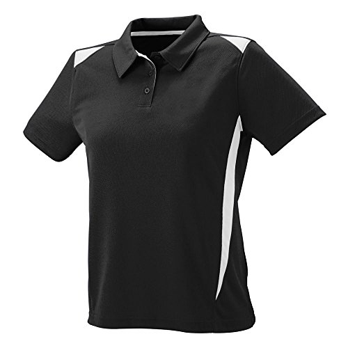 Augusta Sportswear 5013 Women's Premier Sport Shirt, Black/White, Medium