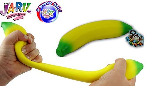 (JA-RU Super Stretchy Banana and a Bouncy Ball Bundle Stretches Long & Shrink Slow. Smells Good | Item)