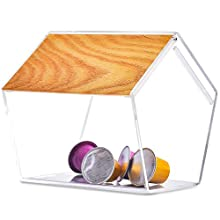 Coffee Pod Holder Tea Bag Organizer Clear Acrylic Dispenser for Nespresso Capsules Vertuoline
