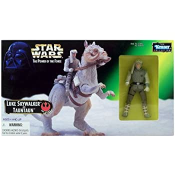 Star Wars The Power of the Force Action Figure - Luke Skywalker and Tauntaun by Kenner