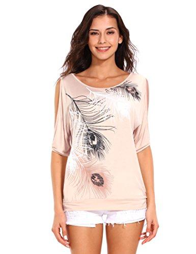 Donna Corte Rose Camicia Maniche Abricot Isassy Pqyx0wtR8q
