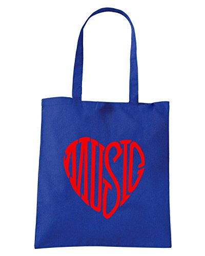T-Shirtshock - Bolsa para la compra OLDENG00811 music heart logo Azul Real
