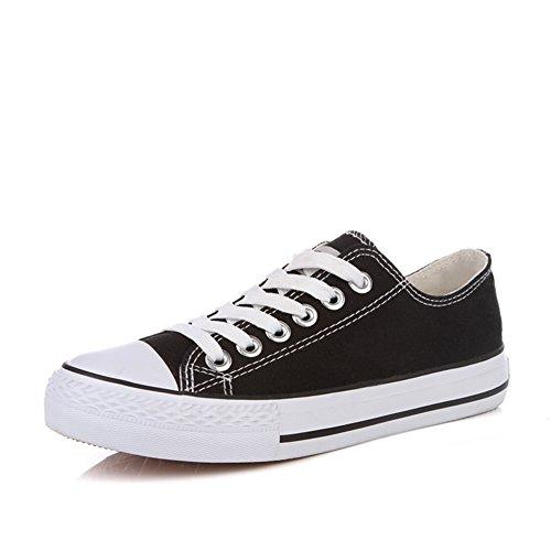 Lienzo clásico zapatos de las mujeres/Zapatos de encaje de corte de verano estudiante bajo/Zapatos planos mujer N