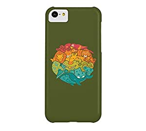 Animal Rainbow iPhone 5c Army green Barely There Phone Case - Design By Humans