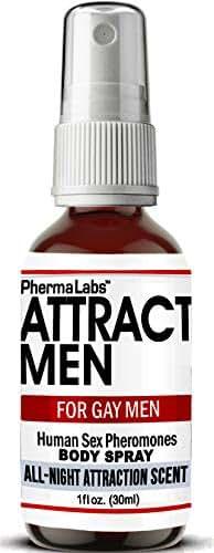 PhermaLabs Attract Men for Gay Men Body Spray with Pheromones (All Night Scent) Human Sex Pheromone- Libido 25mg