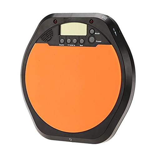 Training Drum Pad - SODIAL(R) Digital Drummer Training Practice Drum Pad Metronome with Earphone & Batteries by SODIAL(R)