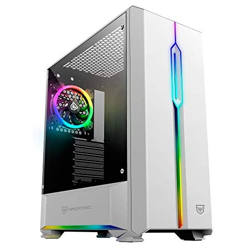 chollos oferta descuentos barato Nfortec Antares NF CS ANTARESW Torre Gaming RGB color blanco