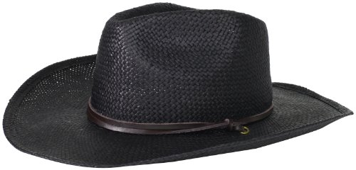 San Diego Hat Company Women's Soft Toyo Paper Cowboy Hat, Black, One Size