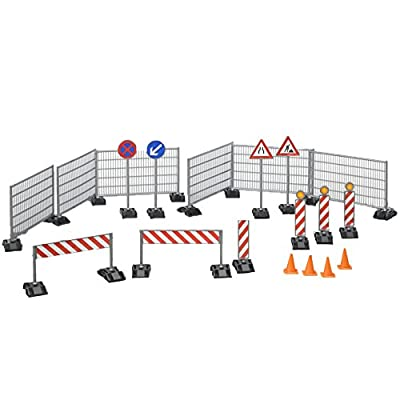 Bruder Construction Set: Railings Site Signs and Pylons: Toys & Games