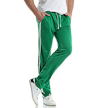 Mens Casual Trousers M-2XL Solid Cotton Comfort Sport Running Training Outdoor Slim Pant MITIY