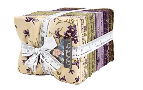 Sweet Violet 36 Fat Quarter Bundle by Jan Patek for Moda - Violet Fabric Quilt