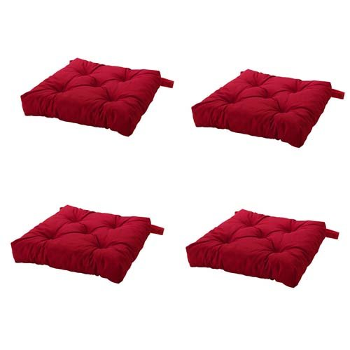 Ikea Malinda Chair Cushion, Chair Pad, Red Set Of 4 Part 51
