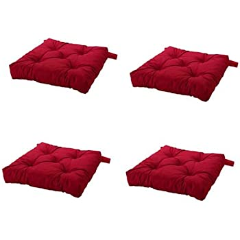 Wonderful Ikea Malinda Chair Cushion, Chair Pad, Red Set Of 4