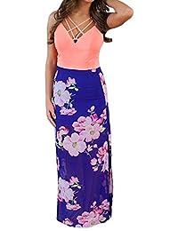 SlickBlue Women Summer Boho Long Maxi Evening Party Cocktail Dress Beach Dress