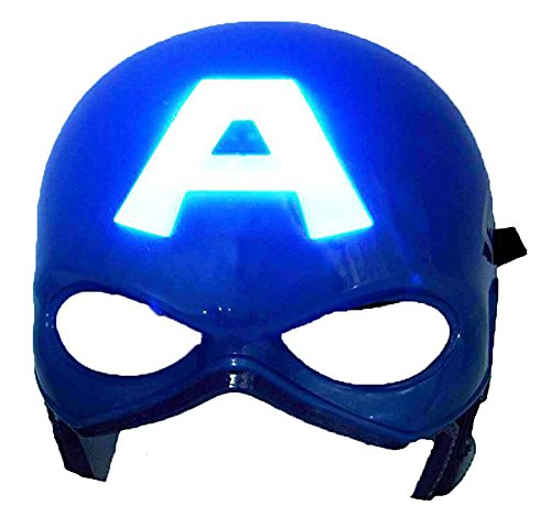 HLLWN Expresss, Capitan America, Light Up Halloween Mask 2014 HLWMSK39 (Costume Capitan America Woman compare prices)