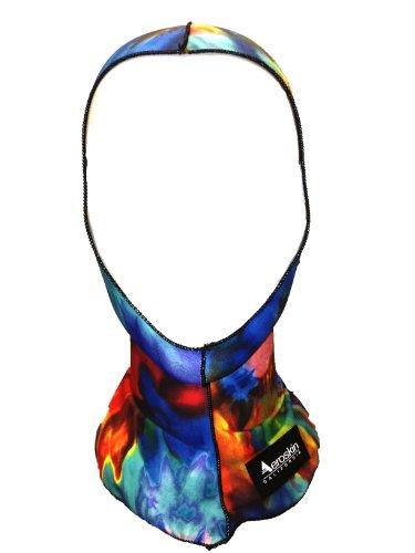 Aeroskin Nylon Spandex Patterned Hood, Tie Dye (Womens Diving Hood)