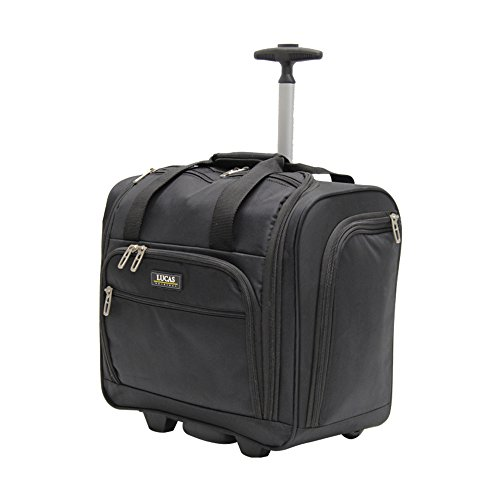 Lucas Luggage Carry On Wheeled Under Seat Bag (Black)