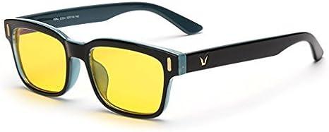 Rnow Gafas de ordenador antibrillo de tinte amarillo contra la fatiga ocular ideal para videojuegos