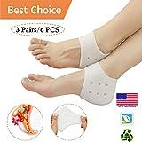 Heel Protectors, Heel Cups Sleeve, New Material* Heel Cushion, Great for Heel Pain, Heel Spur Cracked Heels, Heal Dry, Cracked Heels.