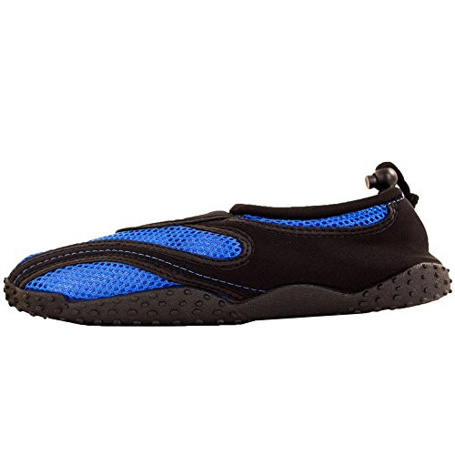 Easy USA Men's Slip on Aqua Socks Water Shoes Royal Blue lPJTqq