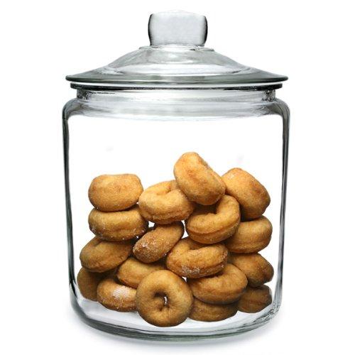 Utopia Biscotti Jar Large 3.8ltr | Food Storage Jar, Glass Jar, Push Top Jar