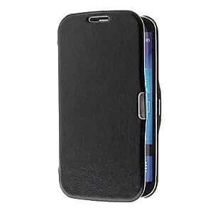 Conseguir Cuero artificial y cubierta del caso del diseño Textura de piedra de plástico con soporte para Samsung Galaxy S4 i9500/i9505 , Rojo