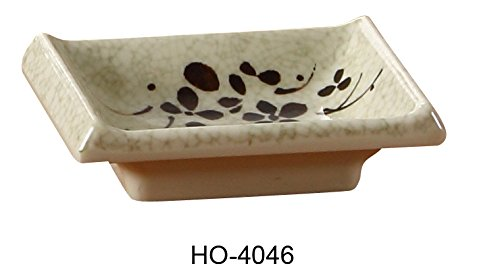 Yanco HO-4046 Honda Sauce Dish, 3.75'' Length, 2.5'' Width, Melamine, Pack of 72 by Yanco