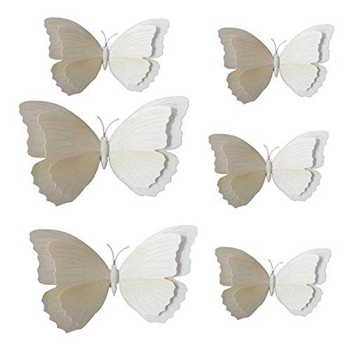 huoaoqiyegu 12x 3D Butterfly Wall Sticker Fridge Magnet Room Decor Decal Applique