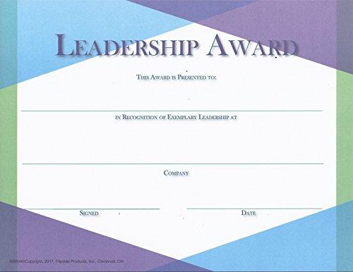 Leadership Award - Glass Series Matte Paper - Quantity 150