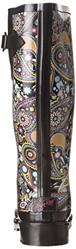 Toe Roxx Blazin Multicolored Paisley Women's Boots Rubber Round Rain PIIdqxwr