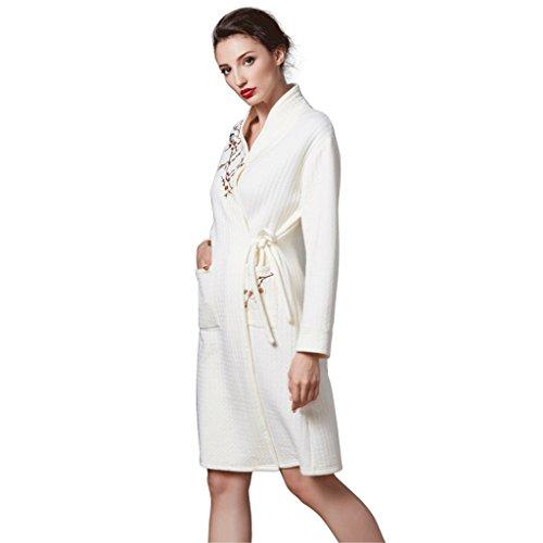 ZLR Autunno Inverno Lady Plus Accappatoio in cotone Pigiama puro cotone ispessimento Abbigliamento da notte a maniche lunghe ( dimensioni : XXL )