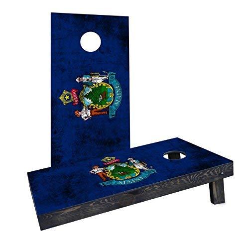 人気が高い Custom Flag Cornhole Boards CCB1166-C Worn Worn State (Maine) Flag Cornhole Cornhole Boards [並行輸入品] B07HLKVW2Q, ふとん村:75e251c6 --- arianechie.dominiotemporario.com